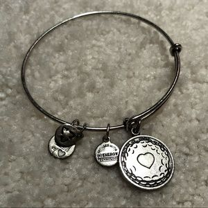 Alex and Ani Golf Ball with Heart Bracelet